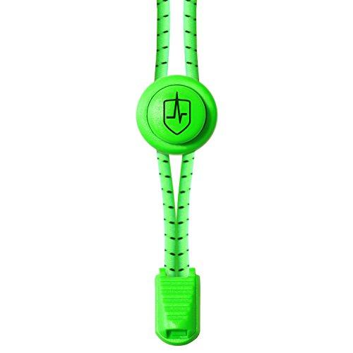 Foto de High Pulse Cordones Elasticos para Zapatillas / Un par de cordones elásticos ajustables con cierre rapido para un agarre seguro y comodo (Verde eléctrico)