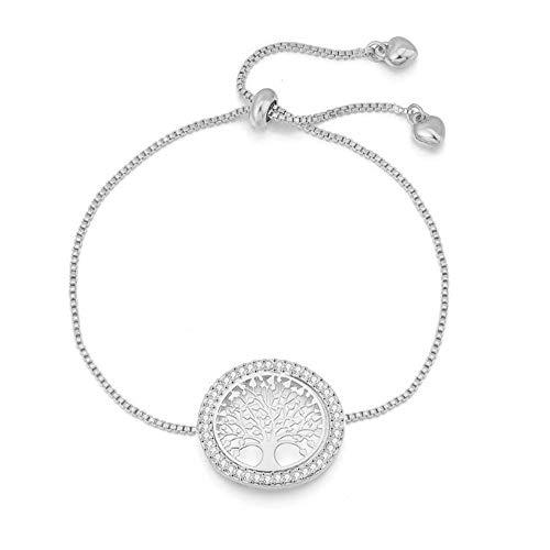 DSHW EinfachNeue Armband Lebensbaum Hohl Armband Großhandel Europa und Amerika Metall Kreative Lebensbaumschmuck,Silver