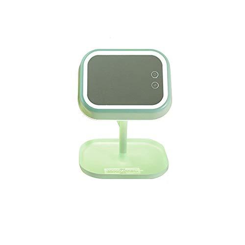 Panel Beleuchtete Make-up-spiegel (ZMXAN Ankleidespiegel Kosmetikspiegel Tischlampe Led-Lampe Desktop-Speicher Spiegel Desktop-Multifunktions-Touchscreen-Lampe)