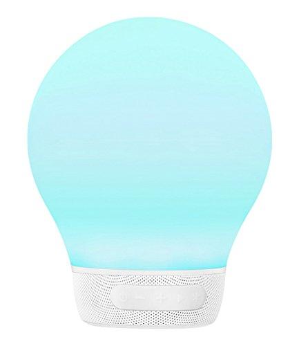 Divoom Aurabulb - Lámpara (Led RGB, alarma, Bluetooth, 5 efectos de iluminación), color blanco