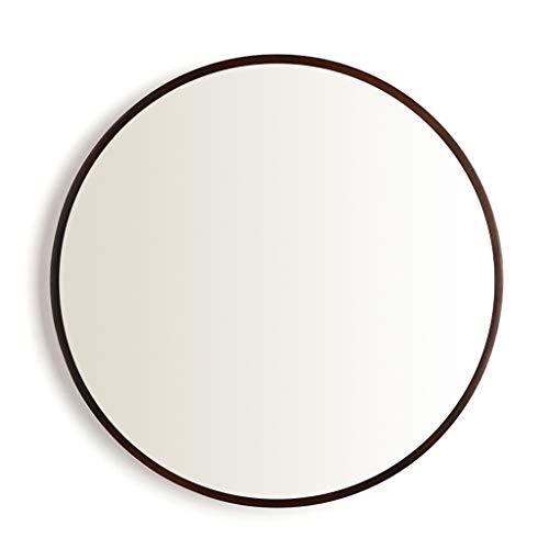 Kommode Runde Spiegel (GSH-MIRROR Mode aus Holz Wandspiegel, runde Kosmetikspiegel, Spiegel Kommode, Rahmenmaterial aus Holz, für Eingänge, Wohnzimmer, Badezimmer, Home Mirrors Decor)
