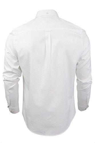 Ben Sherman - Chemise casual - Uni - Col Boutonné - Manches Longues - Homme Blanc