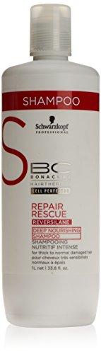 Schwarzkopf 57708 Repair Rescue Reversilane Deep  Nourishing Shampoo para cabellos dañados secos y normales