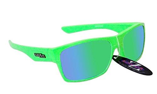 RayZor Professional leichte UV400grün Sports Wrap Archery Sonnenbrille, mit einem grünen Iridium verspiegelt Blendfreie Objektiv