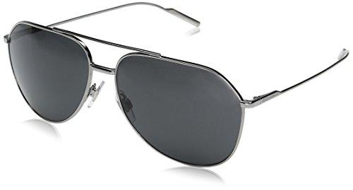 Dolce & Gabbana Herren 0DG2166 04/87 61 Sonnenbrille, Grau (Gunmetal/Gray),