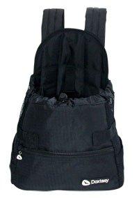 Doxtasy Hundetragetasche Front Carrier schwarz (Medium) Hundetasche bis max. 4kg