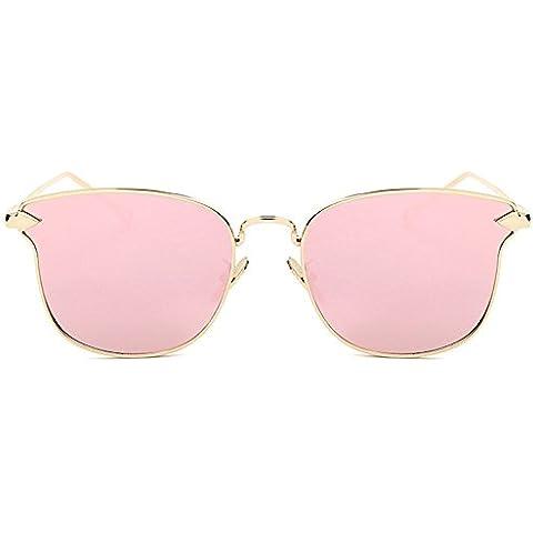 Kissing U Moda Callejera Diseño Ojo de Gato Lentes de Espejo Creativo Marco de Metal Polarizada Gafas de sol UV400