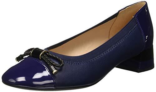 Geox D Chloo Mid C, Zapatos de Tacón para Mujer, Blue C4000, 39 EU