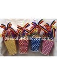 30 x Transparente Bolsas De Celofán, con cintas rizadas! Ideal para regalo cajas, bolsas cotillón, detalles, de envolver cupcakes y dulces
