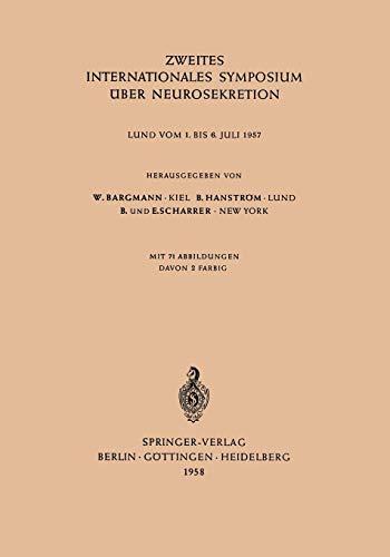 Zweites Internationales Symposium über Neurosekretion