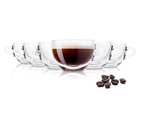 Vasos de té/café Tivoli Ankara - 180 ml - Set de 6 - Vasos de alta calidad - Apto para lavavajillas - Vasos de cristal