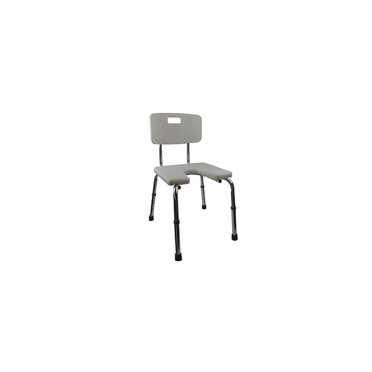 31aAshHrrVL. SS1200  - Silla de baño | Altura regulable | Respaldo | Asiento en U | Marisma | Mobiclinic