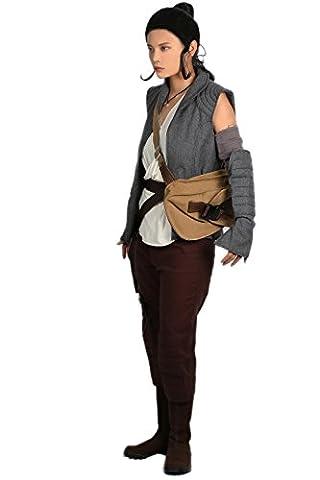 Déguisement Costume Deluxe Rey Tenue Vêtements SW 8 Femme Cosplay Suit avec Accessoire Ceinture Sac pour Adulte Hallween