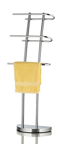 Ribelli Handtuchhalter für Hand- und Gästetücher Handtuchständer mit 3 Stangen ca. 38 x 21 x 105 cm - Handtuchstange verchromt ideal fürs Badezimmer