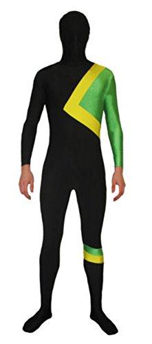 Howriis Unisex Jamaika Rodel Fancy Dress Kostüm für Erwachsene und Kinder Mehrfarbig B Style ()