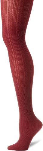 Hanes-port (Hanes Silk Reflections Women's Chevron Rib Texture Tight, Port, Medium)