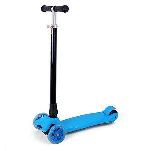 Yunfeng Scooter per Bambini Pieghevole Scooter Tre o Quattro Ruota Flash Monopattino 2-6 Anni Bambino Twist Twist Auto per Bambini