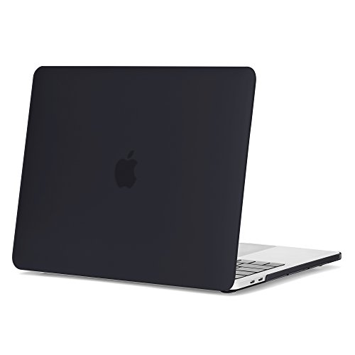 GMYLE Soft-Touch Hard Case Frosted für New Macbook Pro 13 2016 (A1706 & A1708) (Mit Touch Bar) - Schwarz Glänzend Hard Shell Fall-Abdeckung Hülle Case Etui Tasche (Macbook Soft-pro Fall)