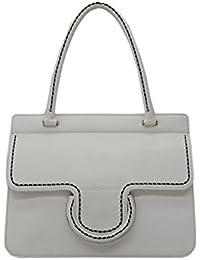 PLINIO VISONA' - Fusion, Shoppers y bolsos de hombro Mujer, Bianco (Off White), 9x26x33 cm (W x H L)