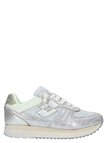 LOTTO SNEAKERS TOKYO WEDGE GLITTER W ARGENTO-ORO T4631-39, ARGENTO