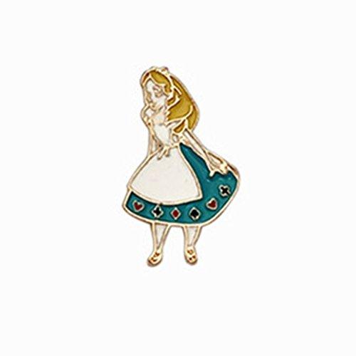 niedlichen Charakter von Alice im Wunderland Brosche aus Legierung für Zubehör-Tasche Mode - Alice ()