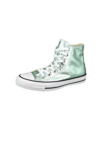 Converse Ctas Hi, Sneakers Femme Vert (Jade/black/white)