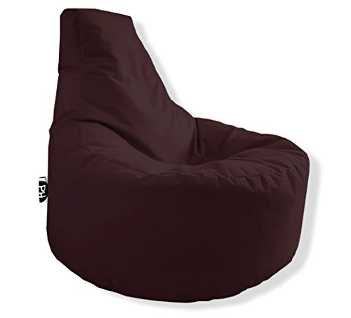 Patchhome Gamer Kissen Lounge Kissen Sitzsack Sessel Sitzkissen In & Outdoor geeignet fertig befüllt - Braun - in 25 Farben