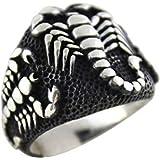 Scorpion Gothic Biker Retro 925 Stelring Silver Turkish Handmade Luxury Men Ring
