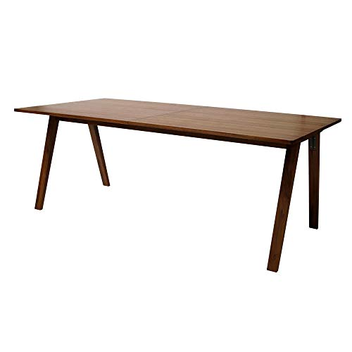 DLM Design Table à Manger rectangulaire en Bois laqué Naturel L200xH75cm MOH