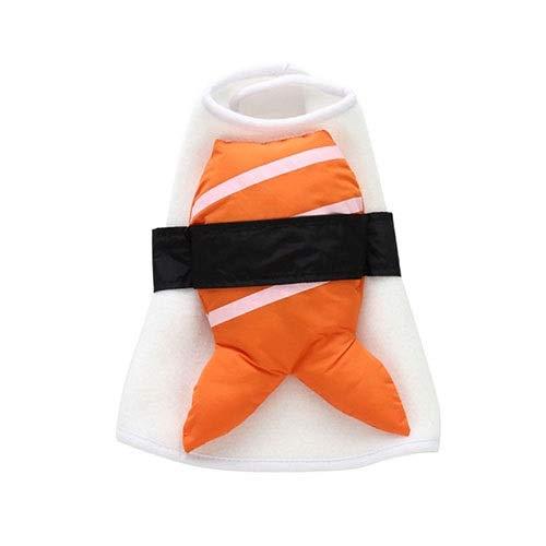 WSJF Pet Sushi Kostüm,Haustier-Sushi-Kostüm, kreatives Halloween-nettes Haustier-Nahrungsmittelkostüm, Haustier-Hundehalloween-Weihnachtsstilvolle Cosplay-Kleidung, S/L (Size : S)