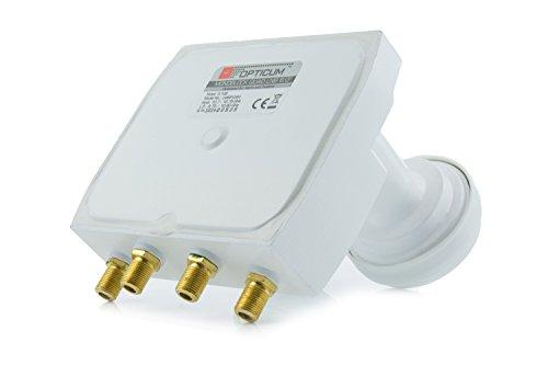 Preisvergleich Produktbild Opticum Monoblock Quad LNB - LMQP-04H (Astra / Hotbird) vergoldete Kontakte (Full HD,  3D)