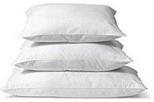 Kissen Inlett 100% Baumwolle in weiß, 10 Größen Kissenfüllung Füllkissen gefüllt (50 x 60 cm)
