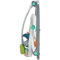 Fisher-Price Jumperoo Compact Carnaval trotteur bébé avec lumières, sons et musiques, repliable pour faciliter le transport, 9 mois et plus, FDG98