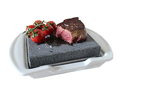 Steak Stone and Plate set by Black Rock Grill (Black Grill Rock)