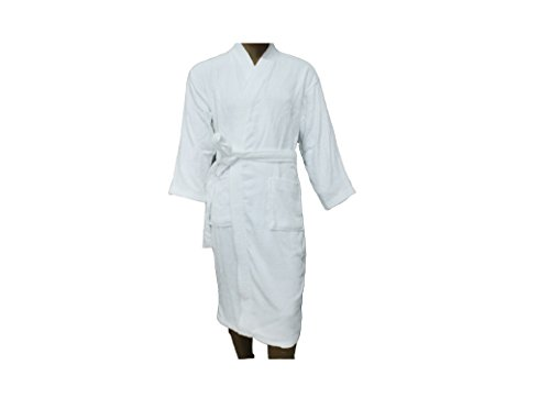 Men Women Terry Bathrobe Cotton Unisex Towelling Gown Large Standard Size Guest Hotel Test