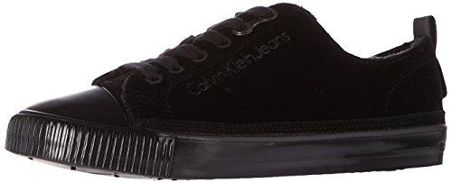 Calvin Klein Damen Dede Velvet Sneaker, Schwarz (Black), 39 EU