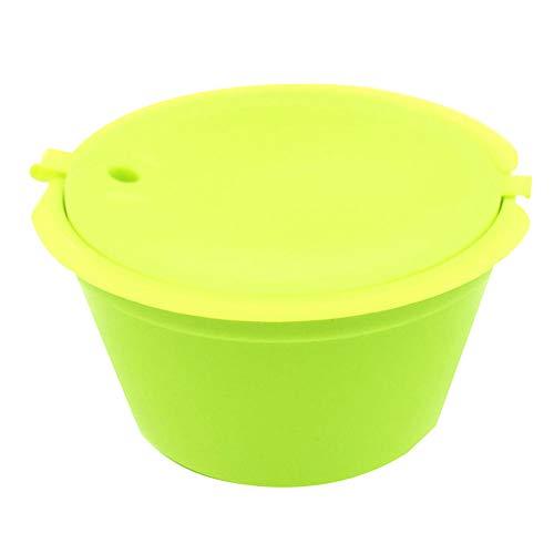 kalaokei Küche Werkzeug wiederverwendbar Kaffee Kapsel Tasse Filter für Nescafe Dolce Gusto nachfüllbar Brauer grün (Brauer Filter)