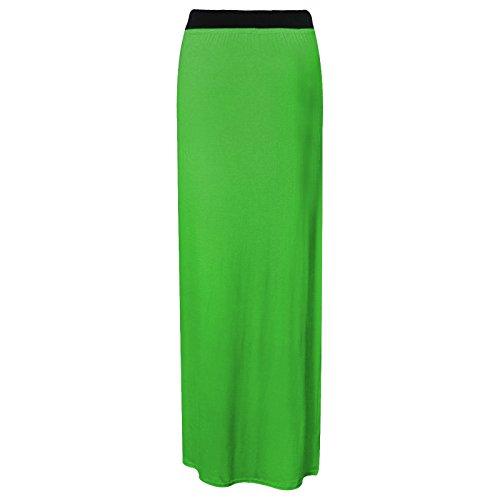 Maxi jupe gypsy en jersey pour femmes de grandes tailles, robe stretch taille 44-54 royaume-uni Vert - Vert jade