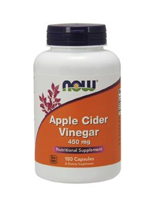Now Foods Apple Cider Vinegar, 450mg - 180 caps Diet Formulated Capsules by Now Foods