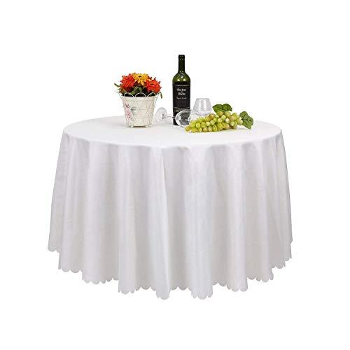 Femor tovaglia rotonda di poliestere da 305 cm, copri tavolo, decorazione da tavolo per albergo, ristorante, matrimoni (10 pezzi)