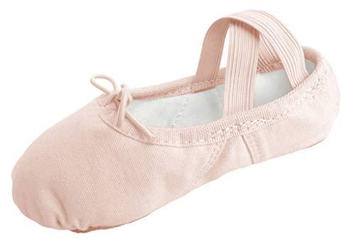 (Dancina Ballettschuhe Aus Leinen - [ 8 Child UK] EU 25 Ballett-Rosa)