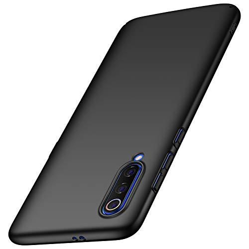 Arkour Hülle für Xiaomi Mi 9 Handyhülle, Minimalistisch Ultradünne Leichte Slim Fit Handyhülle mit Glattes Matte Oberfläche Hard Case für Xiaomi Mi 9 (Schwarz) Slim Fit Hard Case