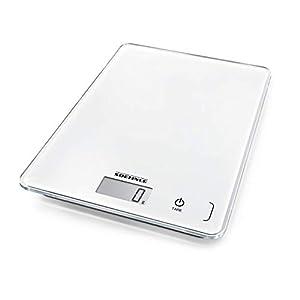 Soehnle Page Compact 300 digitale Küchenwaage bis zu 5 kg Tragkraft, Küchenwaage mit leicht ablesbarer LCD-Anzeige, Digitalwaage mit Zuwiegefunktion