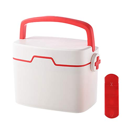 Hausapotheke-kit (Haushalts Medizin-Speicher-Box, Security Storage Box Organizer, Kunststoff Child Proof Familie Emergency Kit)