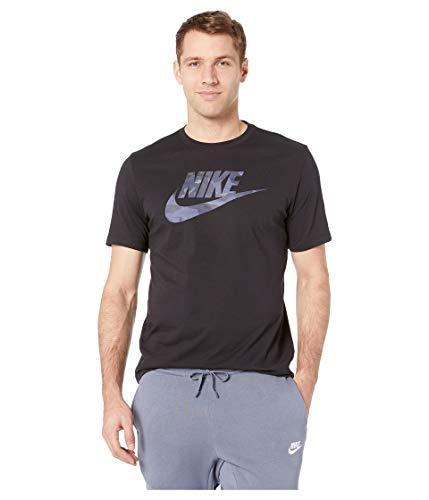Nike Herren Sportswear Camo T-Shirt, Black/Midnight Navy, 2XL