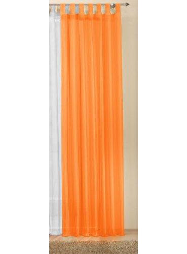 Transparente einfarbige Gardine aus Voile, viele attraktive Farbe, 245x140, Orange, 61000