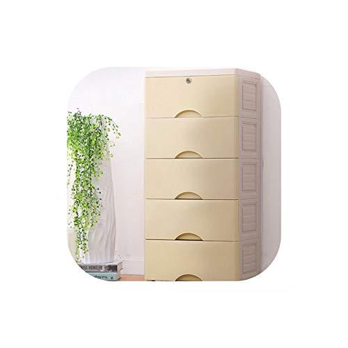 Archiba Storage box Kunststoff-Organizer-Fach 5 Schichten Schubladen für Kleidung Organisator-Aufbewahrungsbehälter für Spielzeug Schublade Kunststoff Schublade Organizer im Schlafzimmer, 5 -