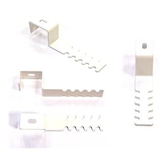 Robert Winkelsträter GmbH & Co. KG Dekohaken-Set (4 Stück) mit Abstandhalter für Fensterrahmen 19-22 mm, weiß