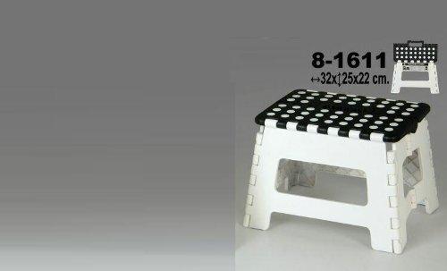 DonRegaloWeb - Taburete plegable de pvc en color blanco y negro con...