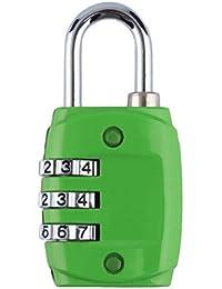 Aleación de zinc Seguridad 3 dígitos Dial Número de código de combinación Candado para equipaje Zipper Mochila…